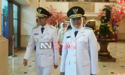 Gubernur dan wakil gubernur Jawa Timur terpilih, Khofifah Indar Parawansa dan Emil Dardak. (Foto: Setya N/NUSANTARANEWS.CO)