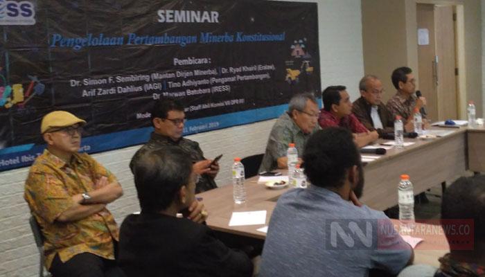 Diskusi Pengelolaan Pertambangan Minerba Konstitusional (Foto Dok. NUSANTARANEWS.CO)