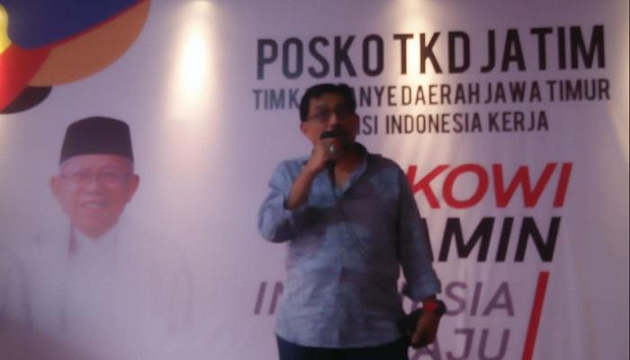 Tim Kampanye Daerah (TKD) Jawa Timur Irjen Pol (Purn) Machfud Arifin optimis suara Jokowi-Ma'ruf di Jatim akan signifikan dalam Pilpres 2019 mendatang. (Foto: Setya N/NUSANTARANEWS.CO)