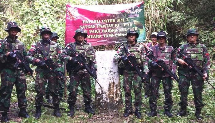 Satgas Pamtas Yonif Para Raider 328 Dirgahayu Kostrad. (Foto: Dok. Kostrad/Dispenad)