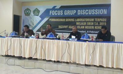 Focus Grup Discussion (FGD) Pembangunan Gedung Laboratorium Terpadu di IAIN Kendari, Rabu (6/2). (Foto: Istimewa)