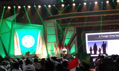 Ketua Umum PPP, Romahurmuziy Saat Sambutan Usai Membaca Qiraah di Harlah PPP ke-46 (Foto Dok. NUSANTARANEWS.CO).