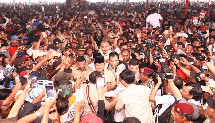 Kunjungan Prabowo di Nganjuk, Jawa Timur, Mei