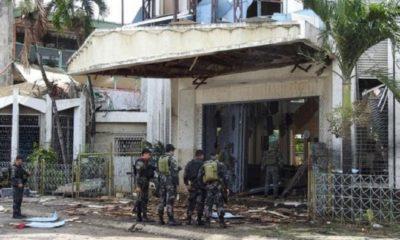 Ledakan bom di Katedral FIlipina. (FOTO: AFP)