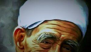 Lukisan Wajah Mbah Moen (Ilustrasi)