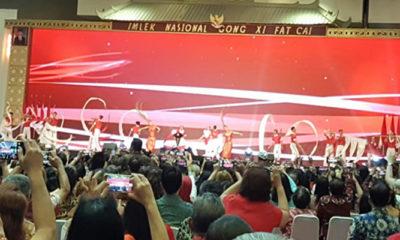 Nama Jokowi Berkumandang di Acara Imlek Nasional 2019 (Foto by KJ)