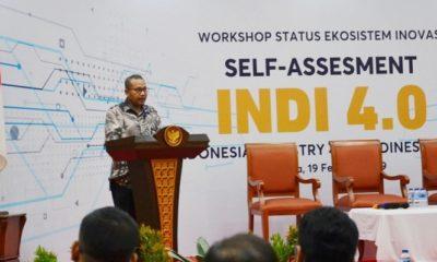 epala Badan Penelitian dan Pengembangan Industri (BPPI) Kemenperin Ngakan Timur Antara pada Workshop Self Assessment dengan tools INDI 4.0 di Jakarta. (FOTO: Dok. Humas Kemenperin)