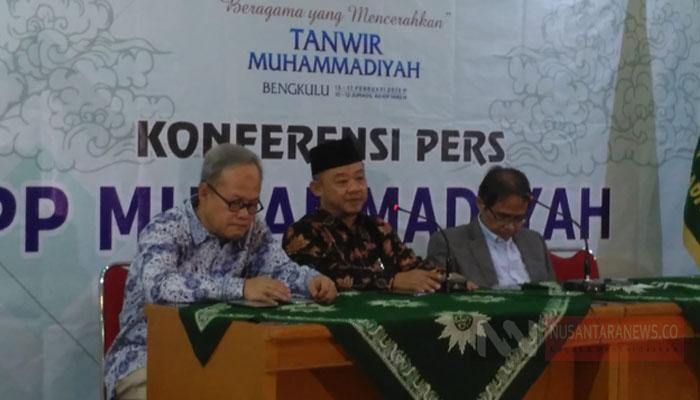 PP Muhammadiyah Menggelar Konferensi Pers Jelang Sidang Tanwir Ke-2 di Bengkulu (Foto Dok. NUSANTARANEWS.CO)