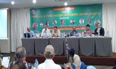 Diskusi bertajuk Membedah Isu Strategis pada Debat Capres-Cawapres Demi Kemajuan Bangsa di kawasan Cikini, Jakarta Pusat, Selasa (27/2/2019). (Foto: