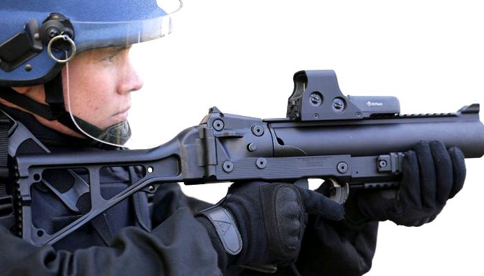 senjata peluncur bola karet, senjata peluncur, perancis, gerakan protes, rompi kuning, kontroversial, nusantaranews
