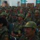 Satlinmas Madiun, Jawa Timur bantu pemerintah sukseskan Pemilu 2019. (Foto: Istimewa)