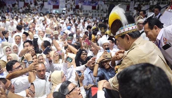 Prabowo menghadiri acara deklarasi nasional alumni perguruan tinggi seluruh Indonesia