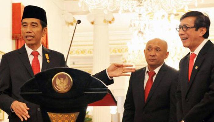 Presiden Jokowi, Teten Masduki dan Yasonna Laoly (Foto Istimewa)