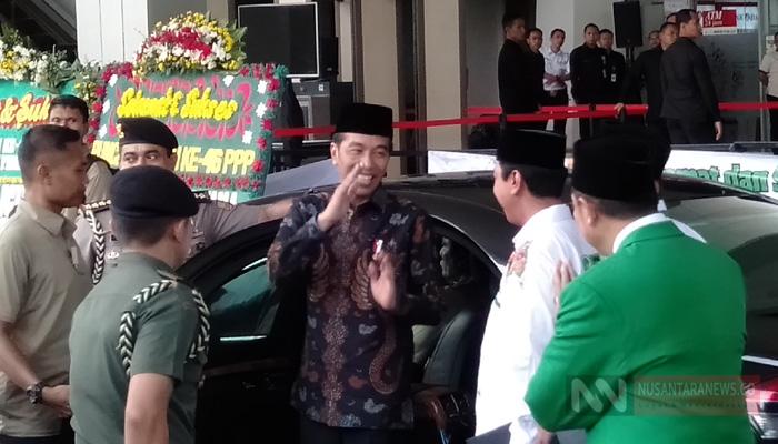 Presiden Jokowi Usai Menghadiri Acara Harlah PPP ke-46 di kawasan Ancol, Jakarta (Foto Dok. NUSANTARANEWS.CO)