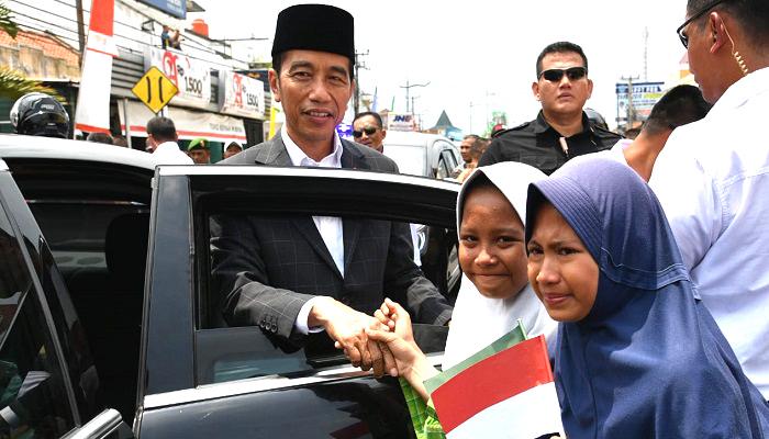 Presiden Jokowi menghadiri pembukaan Munas Alim Ulama dan Kombes NU 2019 di Ponpes Miftahul Huda Al-Azhar di Citangkolo, Kota Banjar, Jawa Barat, nusantara news