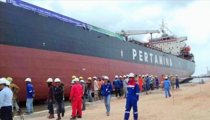 Proyek Kapal Tanker PT Pertamina. (FOTO: Istimewa)