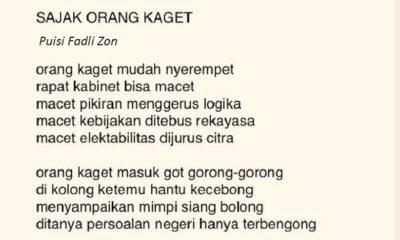 Puisi Terbaru Fadli Zon - Sajak Orang Kaget. (Ilustrasi: @fadlizon)