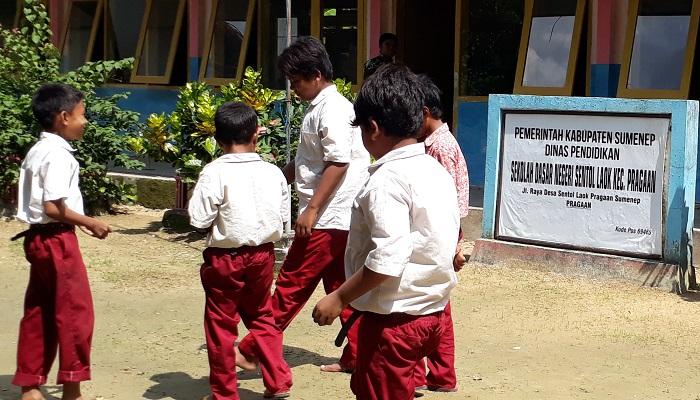 Sekolah Dasar Negeri (SDN) Sentol Laok, Kabupaten Sumenep, Madura, Jawa Timur. (Foto: M Mahdi/NUSANTARANEWS.CO)