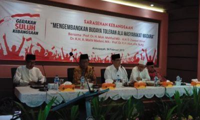 Sarasehan Kebangsaan di Annuqayah, Mahfud MD Puji Toleransi Masyarakat Madura, nusantaranewsco