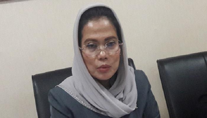 Wakil sekretaris TKD (Tim Kampanye Daerah ) Jatim paslon capres Jokowi–Ma'ruf Amin, Sri Untari optimis. (Foto: Setya N/NUSANTARANEWS.CO)