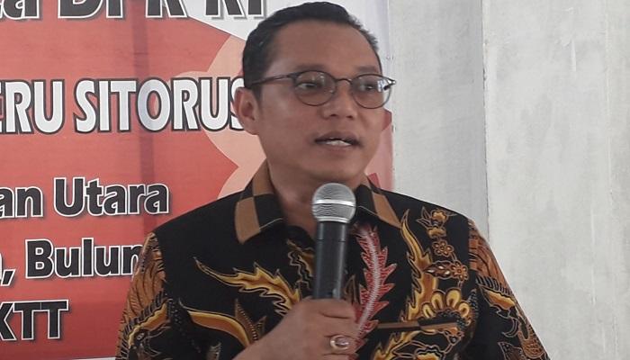 Wakil Direktur Relawan Tim Kampanye Nasioanal Jokowi-Maruf, Dedy Sitorus. (Foto: Eddy Santri/NUSANTARANEWS.CO)