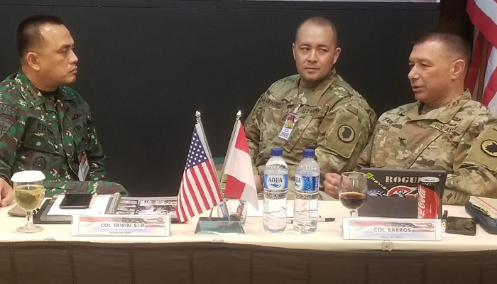 TNI Gelar Latihan Penanggulangan Bencana Bersama Basarnas dan Hawaii National Guard (Foto Dispenad untuk NUSANTARANEWS.CO)