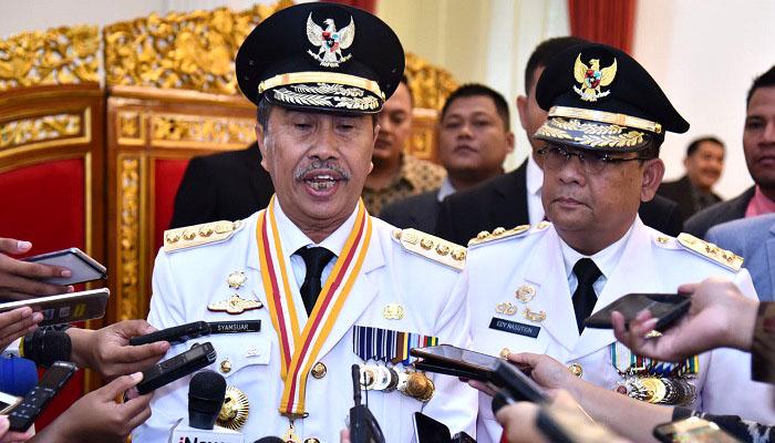 gubernur riau, karhutla, riau, presiden jokowi, kebakaran hutan, nusantaranews, syamsuar, nusantara news