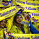 Suporter Villarreal FC. (Foto: AFP)