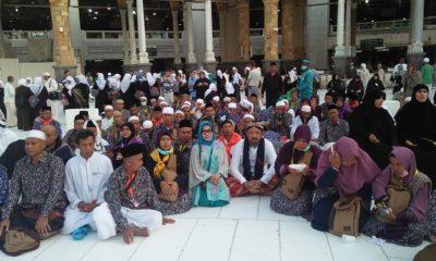 Program Umrah 1000 Kiai Kampung Ponorogo, Jawa Timur melaksanakan rangkaian kegiatan umrah di Masjidil Haram, Makkah Al Mukaromah, Arab Saudi, Kamis (28/3/2019). (Foto: Muh Nurcholis/NUSANTARANEWS.CO)