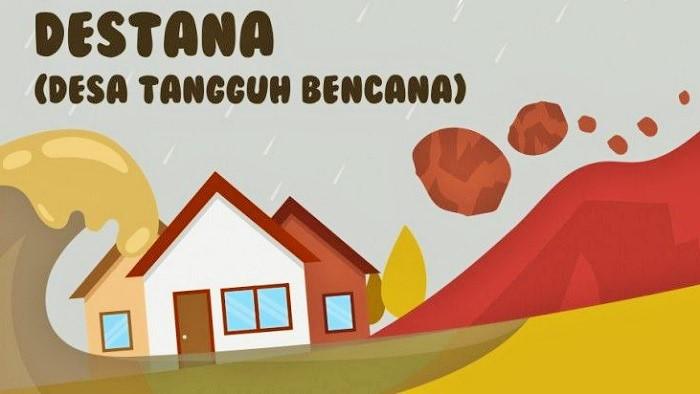 Destana - Desa Tangguh Bencana Kaltara. (Ilustrasi/Istimewa)