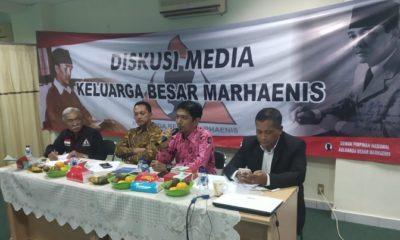 """Dewan Pimpinan Nasional Keluarga Besar Marhaenis mengadakan Diskusi Media III bertajuk """"Pemberdayaan UMKM Dalam Era Jokowi-JK."""". (FOTO: NUSANTARANEWS.CO/Istimewa)"""