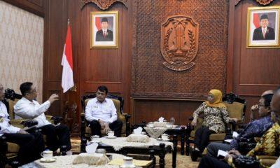 Gubernur Jatim Menerima Kunjungan Kerja Wantannas di Gedung Grahadi Surabaya, Jumat (29/3/2019). (Foto: Setya N/NUSANTARANEWS.CO)