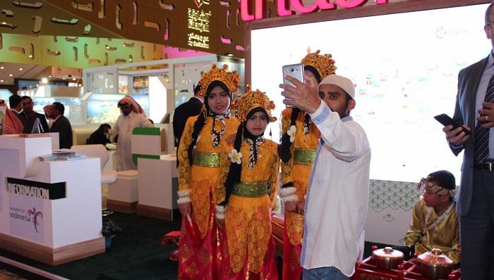 Indonesia mengoptimalkan diri untuk menggarap potensi pasar wisatawan dari Saudi Arabia dalam ajang Riyadh Travel Fair. (FOTO: DOk. Kemenpar)
