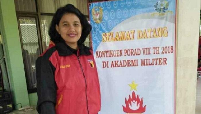 Inggar Herliana Istri Prajurit TNI Kapten Inf Puguh Priyandoko. (FOTO: Istimewa)