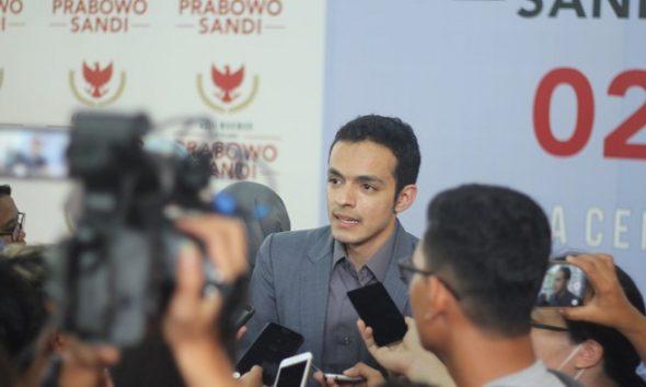 Juru Bicara Badan Pemenangan Nasional pasangan Prabowo Subianto-Sandiaga Uno, Gamal Albinsaid. (FOTO: @@Gamal_Albinsaid)