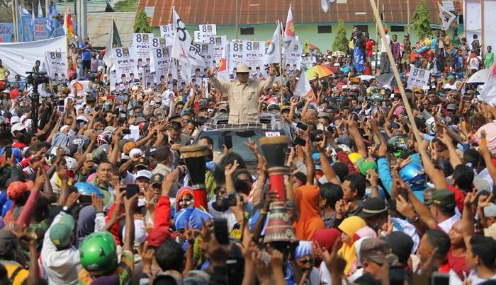 Kampanye Prabowo Subianto di Merauke, Senin, 25 Maret 2019. (FOTO: @Dahnilanzar)