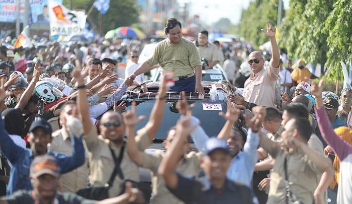 Kampanye Prabowo Subianto di Merauke. (FOTO: @Dahnilanzar)