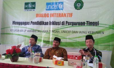 LP Ma'arif Jateng, Unicef dan IAINU Kebumen Gagas Pendidikan Inklusi di Perguruan Tinggi. (FOTO: NUSANTARANEWS.CO/Ibda)