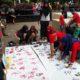 Lembaga Kesehatan Nahdlatul Ulama (LKNU) bersama Dinas Kesehatan Kabupaten Serang menggelar peringatan World TB Day 2019 di Alun-Alun Kota Serang. (FOTO: NUSANTARANEWS.CO)