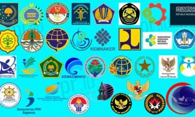 Logo Resmi Kementerian RI Kabinet Kerja. (FOTO; Ilustrasi)