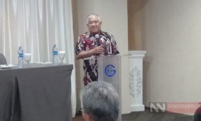 Mantan Ketua Umum PP Muhammadiyah, Prof.DR.H.Din Syamsudin, MA saat memberikan pidato dalam diskusi bertajuk Membedah Isu-Isu Strategis Pada Debat Capres/Cawapres Demi Kemajuan Bangsa, pada 26 Februari 2019 lalu di Hotel Grand Alia Cikini, Jakarta Pusat. (Foto Dok. NUSANTARANEWS.CO).