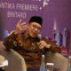 Menag Lukman Hakim Saifuddin saat menghadiri Workshop bertajuk Silabus & Kurikulum UIII: Uji Sahih Islamic Studies. (FOTO: Dok. @Kemenag_RI)