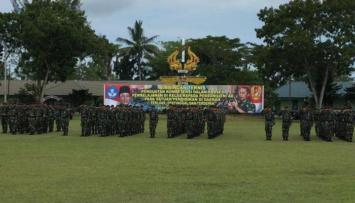 Pembekalan untuk 900 Prajurit TNI AD. (FOTO: Humas Kemendikbud)