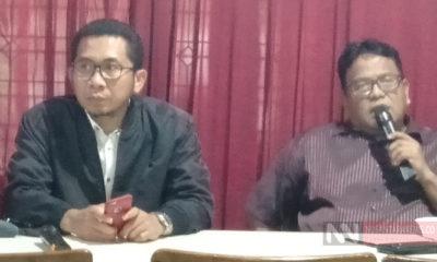 Pengamat Ekonomi Politik Salamuddin Daeng (Kiri) Bersama Wartawan Senior Arief Gunawan (kanan). (Foto: Romadhon NUSANTARANEWS.CO).
