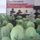 Persatuan Istri Prajurit (Persit) Kartika Chandra Kirana Cabang XXII Kodim 0808/Blitar mengikuti acara Sosialisasi Pendidikan Pemilih. (FOTO: NUSANTARANEWS.CO/Pendim Blitar)