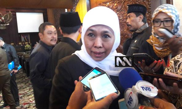 Gubernur Jawa Timur, Khofifah Indar Parawansa katakan RPJMD Jatim 2019-2024 fokus entaskan kemiskinan di wilayah pedesaan Jawa Timur. (Foto: Setya N/NUSANTARANEWS.CO)