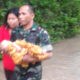 anggota tni, seorang bayi, korban banjir, kabupaten madiun, nusantara news