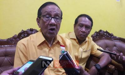 Wakil Ketua Dewan Kehormatan DPP Partai Golkar Akbar Tanjung memprediksi Partai Golkar akan memenangi Pemilu 2019. (Foto: Setya N/NUSANTARANEWS.CO)