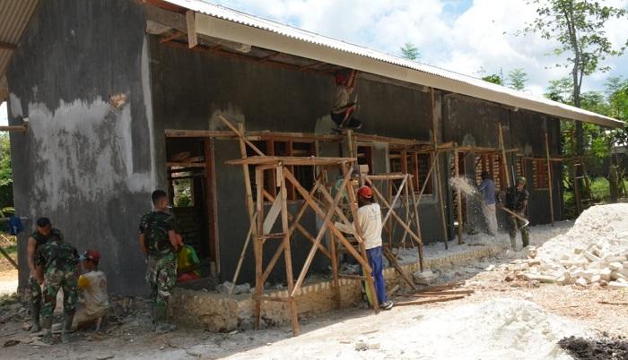 TMMD ke-104 di Jawa Timur tingkatkan taraf hidup sehat dan mutu pendidikan masyarakat. (FOTO: NUSANTARANEWS.CO/Istimewa)