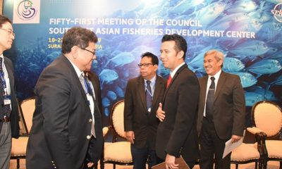 Wagub Jatim saat Fifty First Meeting of The Council Southeast Asian Fisheries Development Center (SEAFDeC) di Hotel Shangri-La Surabaya. (FOTO: NUSANTARANEWS.CO/Setya)